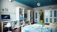 Dekorasyonda yeni moda renkli tavanlar
