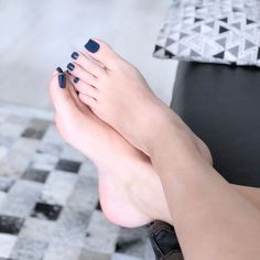 Visit our BLOG (link click photo), if you like to see more . You will fall in love. 11,000 Posts + 10 a day. We will wait for you! 💋 Cute Toe Nails, Cute Toes, Pretty Toes, Acrylic Toes, Toe Polish, Painted Toes, Foot Pics, Barefoot Girls, Beautiful Toes