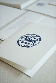 logo idea- Custom Monogram letterpressed on @Crane & Co. Lettra