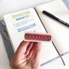 Creatiate Water Tracker Stamp for bullet journaling