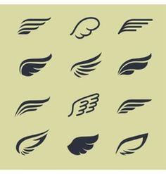 Design Elements Vector Images (over million) Hermes Tattoo, Aviation Logo, Angels Logo, Bird Logos, Wings Logo, Wings Design, Logo Design, Graphic Design, Animal Logo