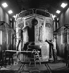 Gallery: Golden Age of Trains in Black and White, by photographer Jim Shaughnessy Diesel Locomotive, Steam Locomotive, Industrial Photographs, Pennsylvania Railroad, Train Art, Old Trains, Train Pictures, Train Engines, Rolling Stock