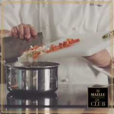 Learn how to make a perfectly clear consommé thanks to Chef Eric Robert from French culinary school, FERRANDI Parris in Paris, France! Eric Roberts, Perfectly Clear, Le Club, Paris France, How To Memorize Things, French, Meals, School, Sauces