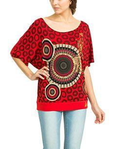 Desigual Mawi - T-shirt - Empire - Imprimé - Col bateau - Manches courtes - Femme - Rouge (Carmin) - FR: 36 (Taille fabricant: S) Desigual http://www.amazon.fr/dp/B00OQ2XSSY/ref=cm_sw_r_pi_dp_g2S7vb19CVGNQ