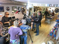 #tv session at #upcycling deluxe concept store