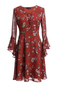 Floral Bell Sleeve Dress – The Other Sparrows