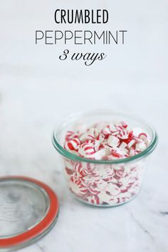 Crumbled peppermint 3 ways (via Could I Have That?)