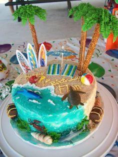 Beautiful Image of Beach Birthday Cake . Beach Birthday Cake 9 Beach Fondant Birthday Cakes Photo Beach Theme Birthday Cake Beautiful Image of Beach Birthday Cake . Beach Themed Cakes, Beach Cakes, Cupcakes, Cupcake Cakes, Cake Fondant, Fondant Birthday Cakes, Shoe Cakes, Ocean Cakes, Luau Birthday