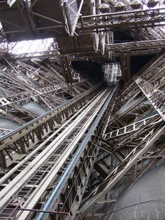 The bowels of the Eifel Tower