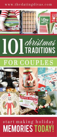 101 traditions to use every Christmas! So excited to try ALL of these! www.TheDatingDivas.com Christmas memories, christmas traditions #christmas