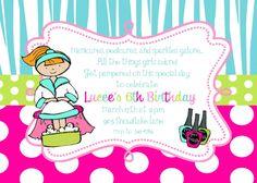 Free Printable Spa Birthday Party Invitation