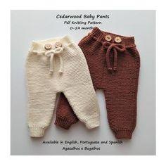 PDF Knitting Pattern Calendula Baby Pants 0-24 Months | Etsy Baby Knitting Patterns, Baby Cardigan Knitting Pattern, Baby Patterns, Kids Knitting, Easy Knitting, Pants Pattern, Clothes Patterns, Crochet Pattern, Knit Baby Pants
