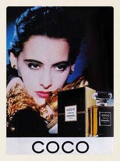 Ines de la Fressange, the original Coco campaign, 1986.