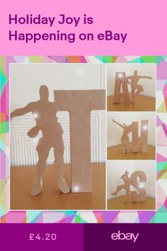 Mdf Wooden Fortnite Letters-Initials Tall Freestanding Only Inc post Diy Letters, Wooden Letters, Video Game Rooms, Life Skills, Initials, Dance, Lettering, Birthday, Bedroom Ideas