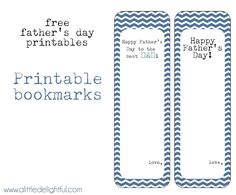 a little delightful: {printable} father's day bookmarks + cards
