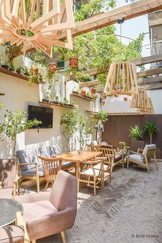 Interior inspiration restaurant garden Ampersand Zamalek Cairo ©BintiHome