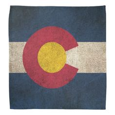 Vintage Distressed Flag of Colorado Bandana