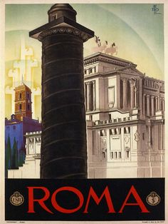 ROME Roma Italian Italia Italy Tourism Fine Travel Vintage Poster Repo