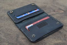 Etsy の Leather Wallet Wallet-Leather Card Holder by sergklim