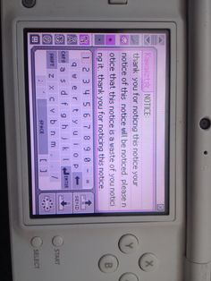 What I put on pictochat