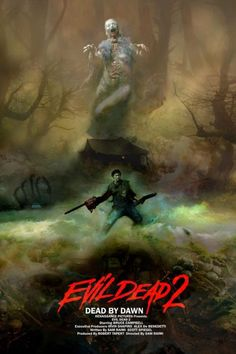 Evil Dead II by Christopher Shy - Home of the Alternative Movie Poster -AMP- Horror Movie Posters, Movie Poster Art, Horror Movies, Horror Icons, Slasher Movies, Art Posters, Evil Dead Movies, Scary Movies, Mad Movies
