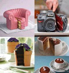 #reposteria #pasteleria #pasteles #originales #diseño #postres  Ummmm...¿Unos pastelitos originales para el postre del sábado?... http://www.yougamebay.com