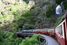 Kuranda Scenic Railway, Queensland, AUS - beautiful scenery and a fun ride.