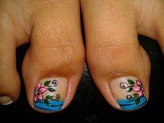 Floresitas Pedicure Nail Art, Toe Nail Art, Toe Nails, Cute Pedicures, Toe Nail Designs, Pretty Toes, Nail Arts, Hair Beauty, Pretty Pedicures