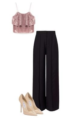 """Bez naslova #404"" by dona-barbara ❤ liked on Polyvore featuring Miss Selfridge and Jimmy Choo"