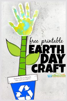 🌎 Earth Day Handprint Flower Craft for Preschoolers Earth Day Activities, Kids Learning Activities, Kindergarten Activities, Fun Learning, Earth Day Projects, Earth Day Crafts, School Projects, Printable Crafts, Templates Printable Free