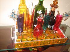 bandeja mosaico de vidro