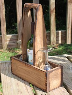 Rustic Wood Wine Cad
