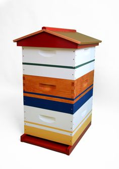 Beautify your garden with one of our specialty hives. All of them are hand painted and include a year of our beekeeping services. Bee Hives Boxes, Bee Boxes, Top Bar Hive, Bee Company, Time Painting, Bee Happy, Bees Knees, Elements Of Art, Border Design