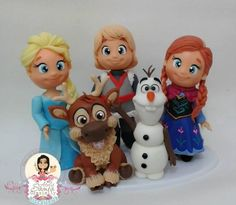 Frozen porcelana fria Bolo Frozen, Tarta Frozen Disney, Torte Frozen, Sven Frozen, Disney Cakes, Polymer Clay Figures, Fondant Figures, Polymer Clay Projects, Polymer Clay Creations
