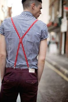 i love a man in suspenders.