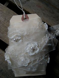 Cream Ivory Sheer Trim with 3 Dimensional by EntirelyApropos