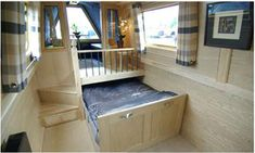 clever hidden bed on a boat