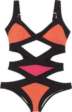 Agent Provocateur - Orange Mazzy Cutout Swimsuit - Lyst 1c80b6e23