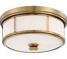 Minka Lavery 4365-249 Harbour Point 2LT Brass Flush Mount Light