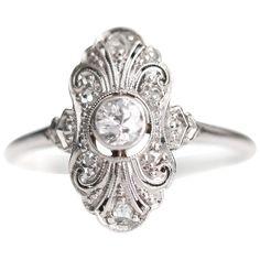 Carat Old European Diamond Engagement Ring, Platinum, White Gold Elegant Engagement Rings, Platinum Engagement Rings, Antique Engagement Rings, Oval Engagement, Art Deco Engagement Rings, Art Nouveau, Contemporary Engagement Rings, Wedding Rings Vintage, Art Deco Wedding Rings