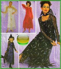 Simplicity 4865 Sexy Goth Devil Witch Angel Dress Patterns