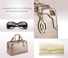 Cartier ... TRINITY DE CARTIER RIMMED SUNGLASSES, MARCELLO DE CARTIER BOWLING BAG, LOVE 12 CREDIT CARD INTERNATIONAL WALLET