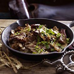 Steakpfanne mit Champignons Rezept