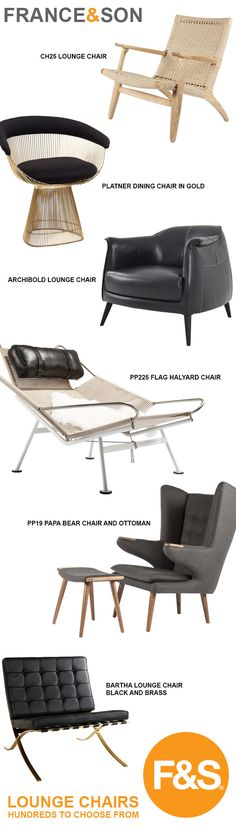 France & Son Lounge Chairs - hundreds to choose from!