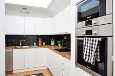 Resultado de imagen para cocinas modernas pequeñas para apartamentos blancas