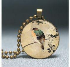 Vintage Japanese Bird Pendant