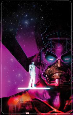 Silver Surfer and Galactus by Uwe De Witt *