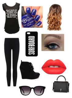 Untitled #1 by lhe02 on Polyvore featuring polyvore, fashion, style, Betsey Johnson, James Perse, Carven, Fendi, Lime Crime and Lipsy
