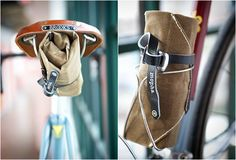 Classic, stylish and practical, we love it. The Mopha Tool Roll is made from waxed canvas with leather trim and a leather toe strap to cinch the roll under your seat or into a bottle cage. It allows you to carry everything you need for any ride, with several pockets you can find just the right spot for all of your gear.