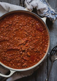 Sauce à spag A Food, Good Food, Food And Drink, Yummy Food, Sauce Recipes, Pasta Recipes, Spaghetti Sauce, Original Recipe, Clean Eating Snacks